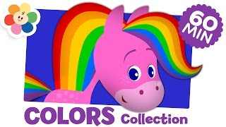 Learning Colors For Kids  | Coloring and Music for Children | Rainbow Horse compilation | BabyFirst