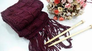 Cách đan khăn len ô caro cách điệu - Bánh Đa Shop