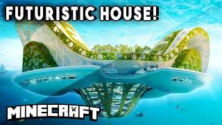 getlinkyoutube.com-FUTURISTIC HOUSE (Built To Survive The Apocalypse!) - Minecraft Maps