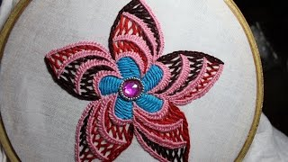 getlinkyoutube.com-Hand Embroidery Designs | Design for cushion cover | Stitch and Flower-95