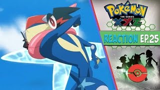Pokemon XYZ Anime Reaction Ep. 25 - Ash Vs The Champion of Kalos Rematch