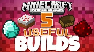 getlinkyoutube.com-✔️Minecraft PE - 5 USEFUL BUILDS/CREATIONS | Redstone creations and contraptions! [MCPE 0.14.2]