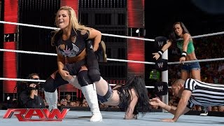 getlinkyoutube.com-AJ Lee & Paige vs. Natalya & Emma: Raw, July 21, 2014