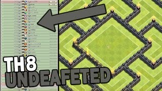 getlinkyoutube.com-*NEW UPDATE* UNDEAFEATED TH8 WAR BASE W/ BOMB TOWER