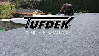 getlinkyoutube.com-Complete Installation Video - Tufdek Waterproof Vinyl Decking