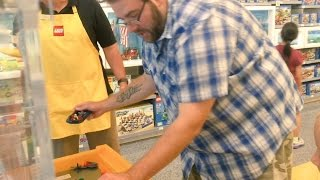 getlinkyoutube.com-FAT MAN ACTING LIKE A TODDLER in LEGO STORE