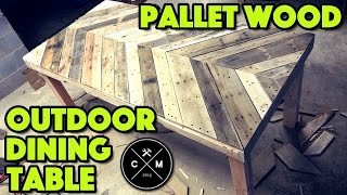 getlinkyoutube.com-How To Build An Outdoor Dining Table From Pallet Wood DIY | Crafted Workshop
