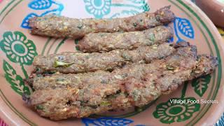 Homemade-Seekh-kabab-in-Tandoor-Oven-Mutton-Seekh-Kebab-Village-Food-Secrets width=