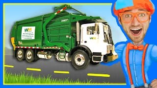 getlinkyoutube.com-Garbage Trucks for Children with Blippi | Learn About Recycling