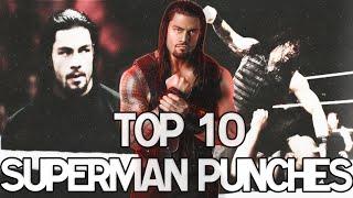 getlinkyoutube.com-Top 10 Superman Punches - Roman Reigns