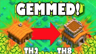 """getlinkyoutube.com-""""GEMMING TOWN HALL 2 TO TOWN HALL 8!"""" - Clash of Clans - NOOBIEST TOWN HALL 8 IN HISTORY!"""