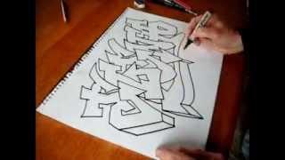 getlinkyoutube.com-Easy Graffiti art with a chrome effect