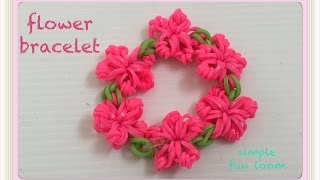 getlinkyoutube.com-FUN  FUN LOOM flower bracelet 簡単 フォークでお花のブレスレット ファンルーム