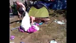 getlinkyoutube.com-Erecting a tent after drinking a bottle vodka