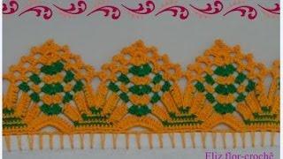 getlinkyoutube.com-Barrado em crochê para panos de pratos *modelo 79*