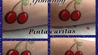getlinkyoutube.com-CEREZAS PARA DISEÑO DE PINTACARITAS.- CHERRIES FACEPAINTING .