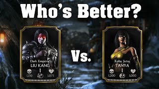 getlinkyoutube.com-Dark Emperor Liu Kang Vs. Tanya! Mortal Kombat X 1.8! IOS/Andriod
