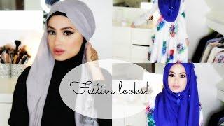 getlinkyoutube.com-Hijab Tutorial and Looks for Festive Occasions!