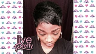 How to mold Short Pixie Cut| Foam Wrap