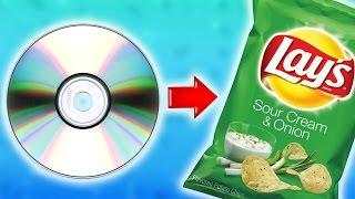 getlinkyoutube.com-Как сделать чипсы быстрее при помощи CD диска в домашних условиях своими руками