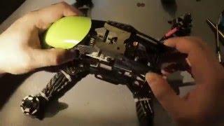 getlinkyoutube.com-Квадрокоптер Robocat 270: Монтаж контроллера и окончательная сборка рамы
