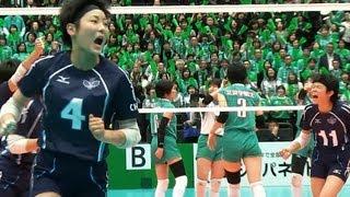 Volleyball 柏井 × 文京学院大女 3S 春高バレー2013-107