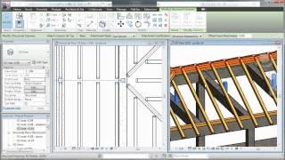 getlinkyoutube.com-Autodesk Revit - wooden roof structure