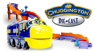 getlinkyoutube.com-Chuggington Toys, Stunt Brewster PlaySet and Wilson & Koko Review Trains for Children