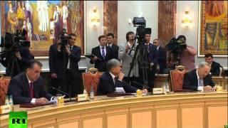 Реакция президентов когда Эмомали Рахмон говорить