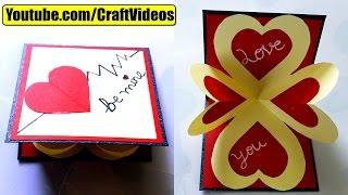 getlinkyoutube.com-How to make pop up card I love you | Valentine's Day Card | Valentines day Pop Up Card