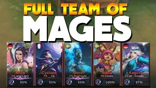Mobile Legends Full Team OF Only MAGES!