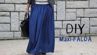 getlinkyoutube.com-DIY Costura cómo hacer una falda larga (maxi-falda)