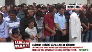 Erzincan Şehidini Gözyaşları İle Son Yolculuğuna Uğurladı