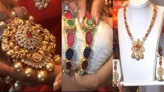 getlinkyoutube.com-Diamond Long Haram, Necklace and Bangle Designs