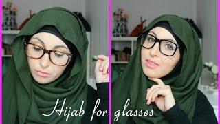 getlinkyoutube.com-Tutoriel Hijab pour lunettes |  Hijab tutorial for glasses