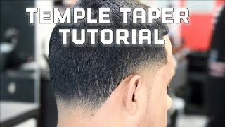 How To - Temple Taper Fade - Blowout Haircut