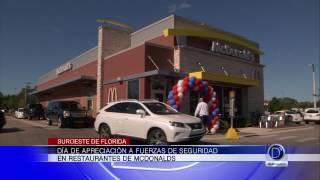 McDonald's tuvo su día de apreciación a fuerzas de seguridad