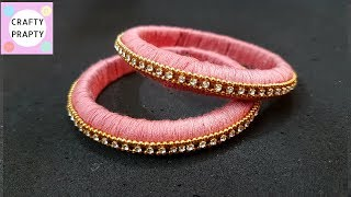 How to Make Thread Bangles/How to make Silk Thread Bangles