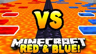 getlinkyoutube.com-Minecraft - RED VS BLUE PARKOUR RACE! - w/ Preston & Kenny