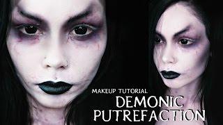 getlinkyoutube.com-DEMONIC PUTREFACTION || Halloween Costume Makeup Tutorial