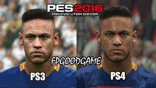 getlinkyoutube.com-PES 2016 PS3 vs PS4 Barcelona Face Comparison