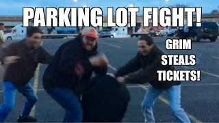 getlinkyoutube.com-PARKING LOT FIGHT at the WWE ROYAL RUMBLE! Grim Steals tickets! Meeting Fans!