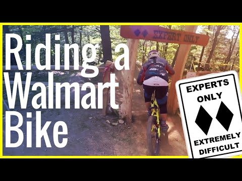 Riding a Walmart Huffy Fat bike down Hawleywood at Thunder Mountain