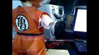getlinkyoutube.com-Papercraft Goku kid StopMotion