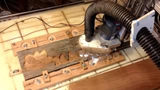 getlinkyoutube.com-Hooked on CNC Custom 3D Wood Carving