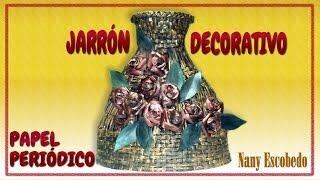 getlinkyoutube.com-JARRÓN DECORATIVO CON PAPEL PERIÓDICO / DECORATIVE VASE WITH NEWSPAPER