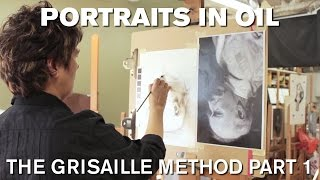 getlinkyoutube.com-Painting the Portrait: The Grisaille Method in Oil Part 1
