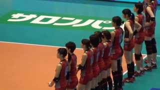 getlinkyoutube.com-2013女子バレー グラチャン 日本vsタイ 3セット目終盤