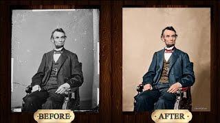 getlinkyoutube.com-[Adobe Photoshop CC] Abraham Lincoln Photo Restoration & Colorization Time-lapse