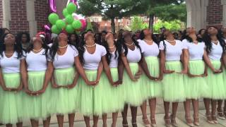 getlinkyoutube.com-Spring 2K15 Zeta Kappa Chapter AKA Probate.  The University of Tennessee at Chattanooga   #7 love !